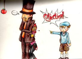 .Layton and the Curious Girl. by MangoGloor