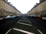 Car Lined Avenue by Clangston