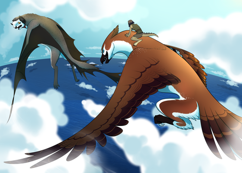 Race above the Clouds by Guduler