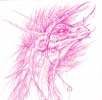 Pink Maned Dragon by Inky-la-reve
