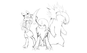 My Top 3 Favorite Pokemon Sketch by JamalC157