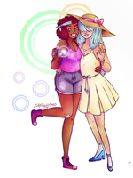 Req 10 - Ruby and Sapphire by Cyber--Zombie