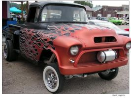 Flamed Gasser Truck by colts4us