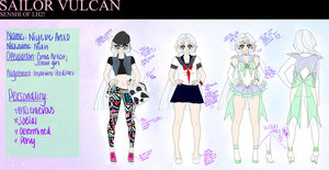 Sailor Vulcan Reference Sheet! by ai-sanura
