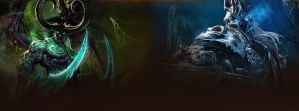 Illidan and The Lich King - Facebook Timeline by DremoraValkynaz