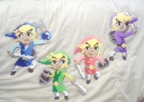 Four Sword Links by WingedKuribohLvl10
