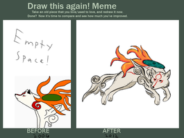 Draw This Fanart Again Meme by GlassesCat