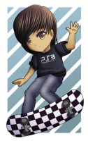 Skateboarding chibis, who knew by Tetiel