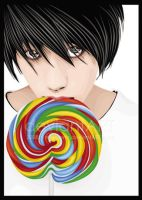 L and the Lolipop by meilyana