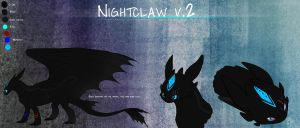 Ref. Sheet : Nightclaw v.2 by iEro-Lau