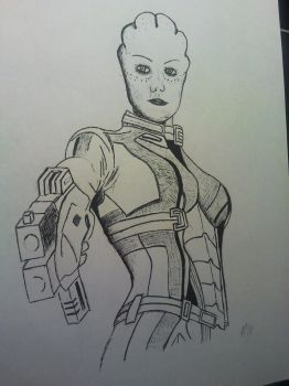 Liara at work by Menadis
