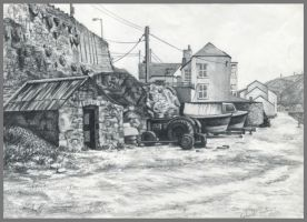 Portreath Harbour sketch 2 by markstewart