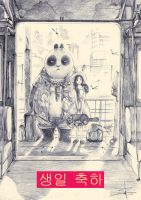 Panda and Little Frairy by transbonja