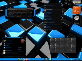 Win7 Blue And Black Theme By Jefferson by KeybrdCowboy