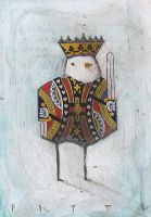 Bird- King of Spades 2 ACEO by SethFitts