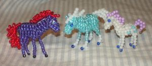 Beaded horses from Wildfire by Anabiyeni