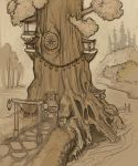 Brothel Tree Sketch by ursulav