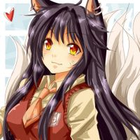 LoL school girl ahri by urusai-baka