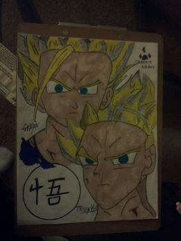 gohan amd trunks colored by Jahero