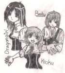Me, Tok, And MKG. RL Sketch? by baxby