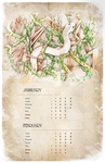 Calendar Project : Snake's reborn by bmsolari