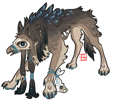 Spooky gryphon for sale - CLOSED by griffsnuff