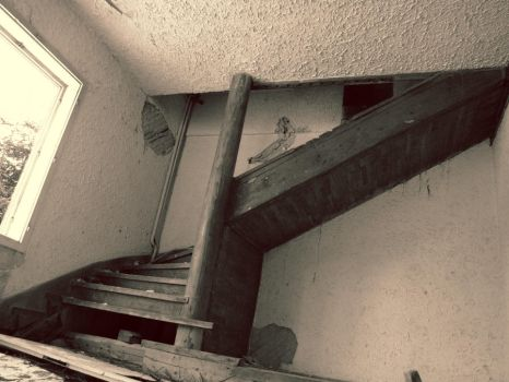 Abandoned House - Staircase by jimmyeverafter