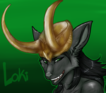Anthro Fox Loki Doodle by MystikMeep