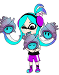 Ava with Super Sea Snails by Rotommowtom
