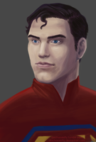 Superman Speedpaint by daChaosKitty