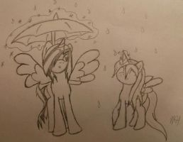 In the Rain by fluffysnail