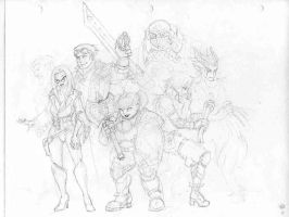 DnD party by Equussapiens