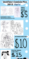 Paypal Commission Prices (2015) by SatoshiTakeo