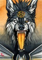 Ember - ACEO for WhiteSpiritWolf by wolf-minori