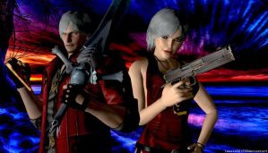 Dante and Lara Wallpaper by WolfShadow14081990