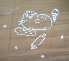 kitty with liquid paper by Antyalan1