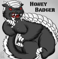 Dire Honey Badger by MuseWhimsy