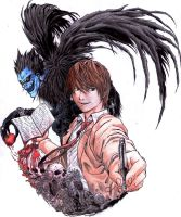Raito Yagami and Ryuk by SaitoGaika