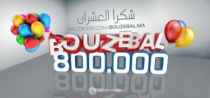 Bouzebal Page 800K Likes by Hamdan-Graphics