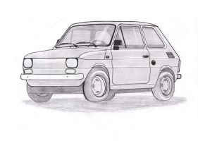 Fiat 126 - Maluch xD by daughter-of-chaos92