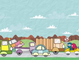 traffic jam by karyadaridesa