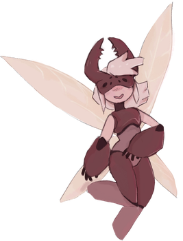 Beetle fairy girl thing by meowing-ghost