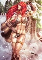 Red Sonja  Colors  By Fantasticmystery by NatanaelBmx