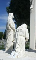 Mount Olivet Cemetery Crucifixion 3 by Falln-Stock
