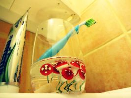 Jellyfish and a Toothbrush by zooz898