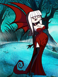 Halloween Commission: Crimson Vampiress by grimphantom