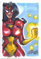 PersonalSketchCard SPIDERWOMAN by jasinmartin