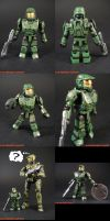 Mini Mates Halo 3 Master Chief by KyleRobinsonCustoms