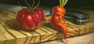 I Made a seedy Deal with a Tomato by Jack-Kirby-Crosby