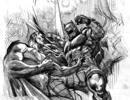 Superman vs. Batman rough by felipemassafera